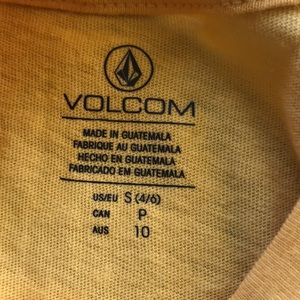 Volcom Tops - NWT Volcom Yellow Crop Stone City Tee
